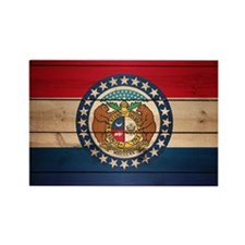 Unique Missouri state flag Rectangle Magnet