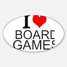 I Love Board Games Decal