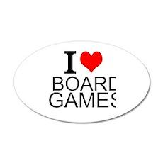 I Love Board Games Wall Decal
