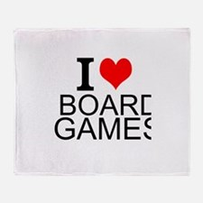 I Love Board Games Throw Blanket