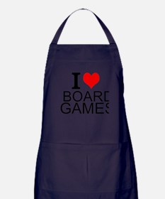 I Love Board Games Apron (dark)