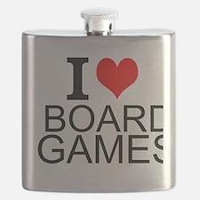 I Love Board Games Flask