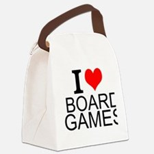 I Love Board Games Canvas Lunch Bag