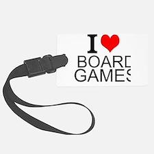 I Love Board Games Luggage Tag