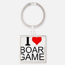 I Love Board Games Keychains