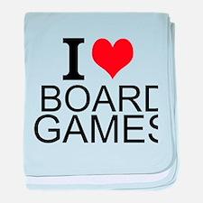 I Love Board Games baby blanket
