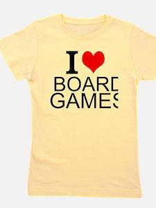 I Love Board Games Girl's Tee