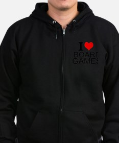 I Love Board Games Zip Hoodie