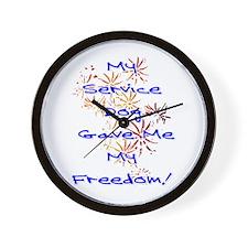 SERVICE DOG FREEDOM Wall Clock