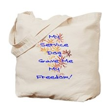 SERVICE DOG FREEDOM Tote Bag