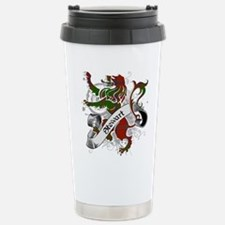 Stewart Tartan Lion Travel Mug