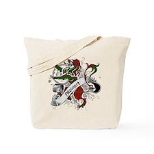 Stewart Tartan Lion Tote Bag
