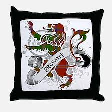 Stewart Tartan Lion Throw Pillow