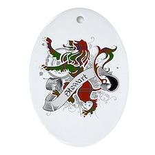 Stewart Tartan Lion Ornament (Oval)