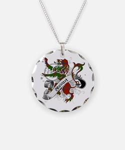 Stewart Tartan Lion Necklace