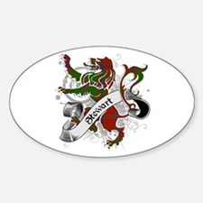 Stewart Tartan Lion Decal