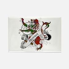 Stewart Tartan Lion Rectangle Magnet