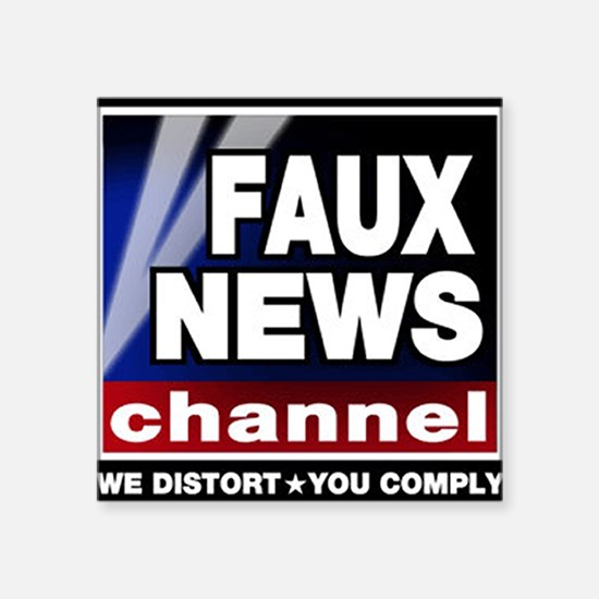 "Cute Fox news Square Sticker 3"" x 3"""