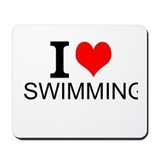 I Love Swimming Mousepad