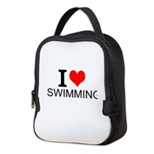 I Love Swimming Neoprene Lunch Bag