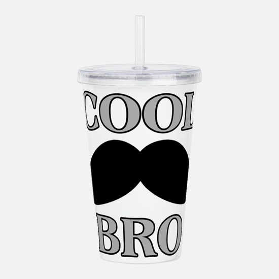 Cool Mustache Bro Acrylic Double-wall Tumbler