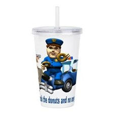 But Cops Love Donuts Acrylic Double-wall Tumbler