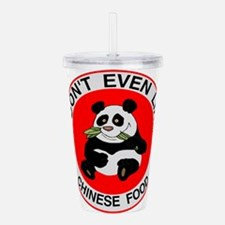 I Hate Chinese Food Acrylic Double-wall Tumbler