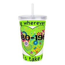 Going With The 80's Acrylic Double-wall Tumbler