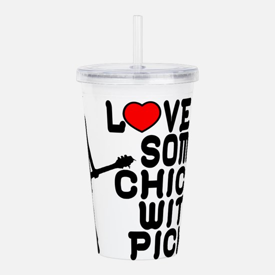 Chicks With Picks Acrylic Double-wall Tumbler