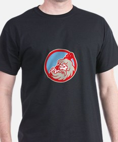 Hercules Wielding Club Circle Retro T-Shirt