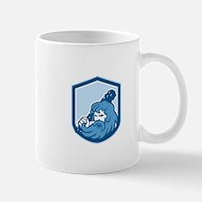 Hercules Wielding Club Shield Retro Mugs