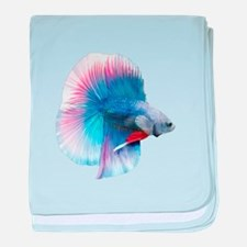 Double Tail Betta baby blanket