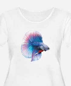 Double Tail Betta Plus Size T-Shirt