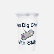Chicks With Skills Acrylic Double-wall Tumbler