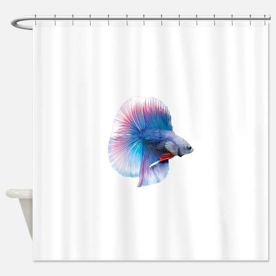 Double Tail Betta Shower Curtain