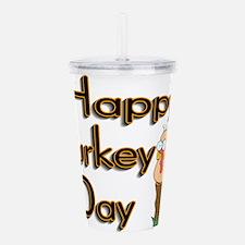 Happy Turkey Day Acrylic Double-wall Tumbler