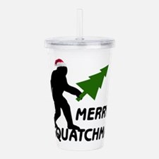 Merry Squatchmas Acrylic Double-wall Tumbler