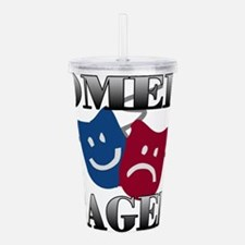 Comedy Tragedy Acrylic Double-wall Tumbler