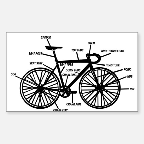 Cute Bike Sticker (Rectangle)
