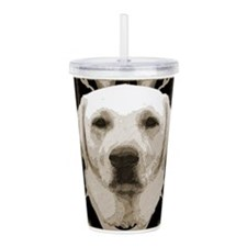A rustic yellow lab Acrylic Double-wall Tumbler