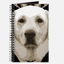 A rustic yellow lab Journal
