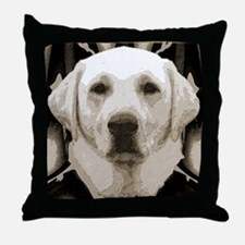 A rustic yellow lab Throw Pillow