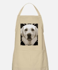 A rustic yellow lab Apron