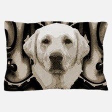A rustic yellow lab Pillow Case