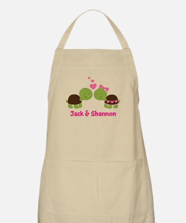 Turtle Couple Personalized Apron