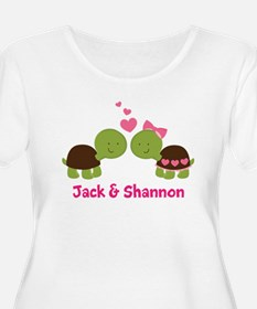 Turtle Couple Personalized Plus Size T-Shirt