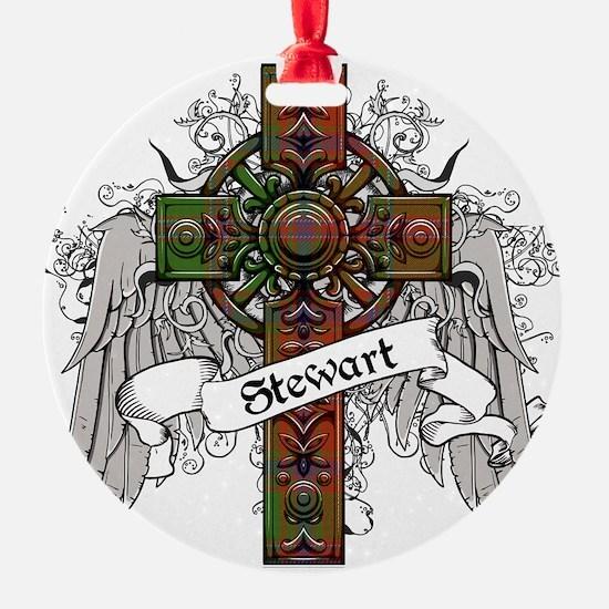 Stewart Tartan Cross Ornament