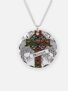 Stewart Tartan Cross Necklace