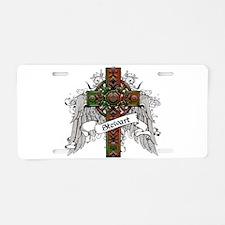 Stewart Tartan Cross Aluminum License Plate