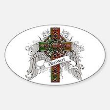 Stewart Tartan Cross Decal